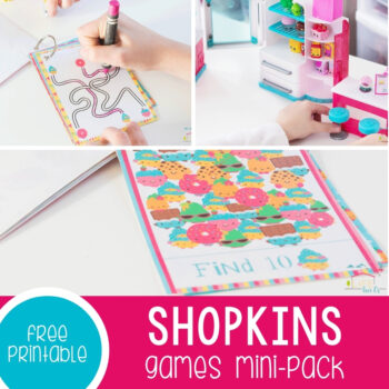 Printable Mini-Pack of Games for Kids Who Love Shopkins Featured Square Image