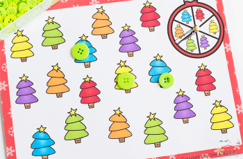 Your preschoolers will love these Christmas tree matching games.