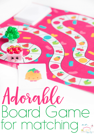 Adorable Free Printable Matching Game for Preschoolers