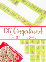DIY Gingerbread Dominoes Matching Game for Preschoolers