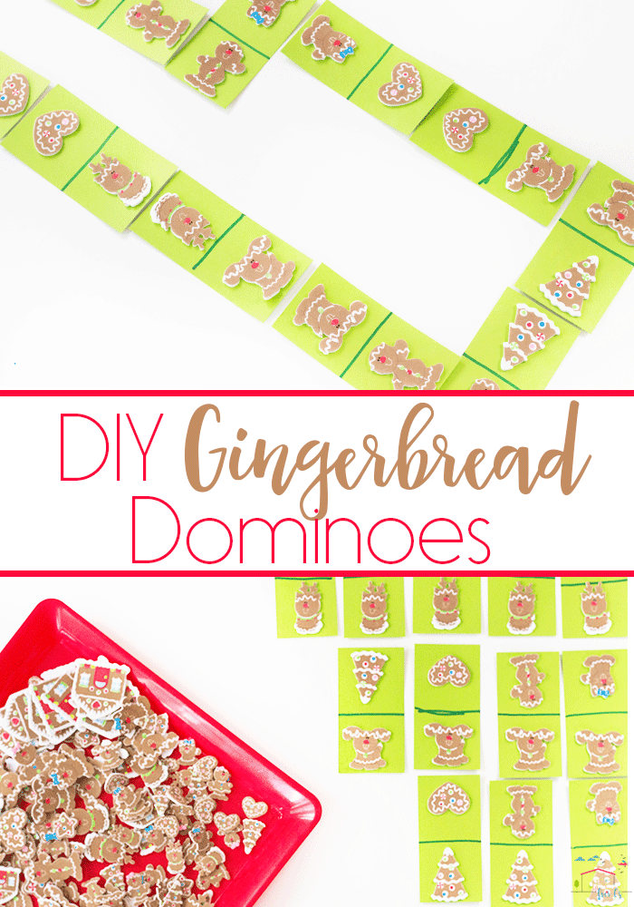 These DIY Gingerbread dominoes are easy to make and a great way to practice matching with your preschoolers.