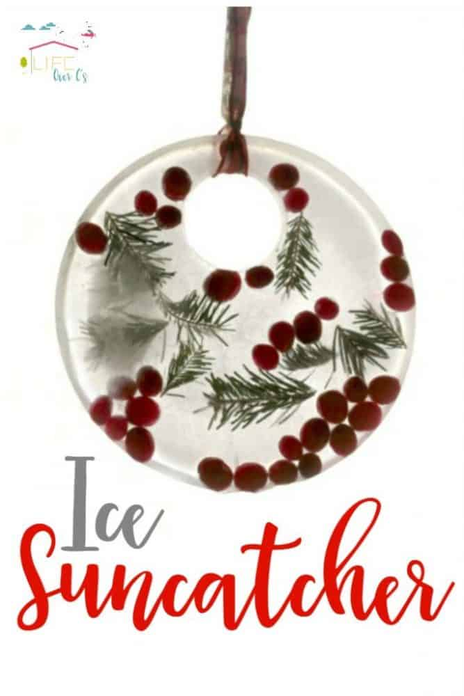 Kids will love making a beautiful melting ice suncatcher that sparkles and shines as it melts! Use leftover Christmas supplies to build these suncatchers.