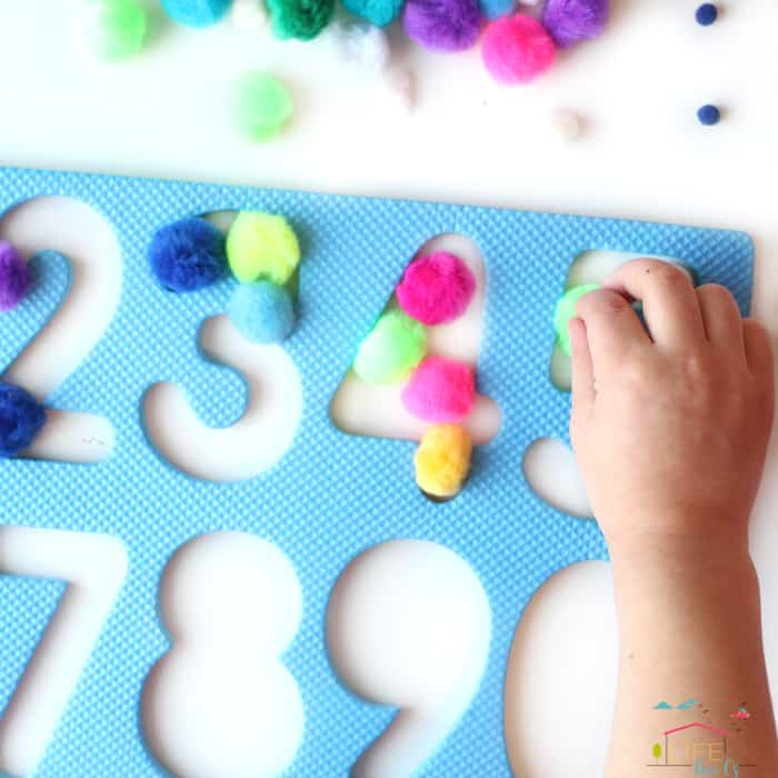 Easy Puzzle Number Recognition Activity