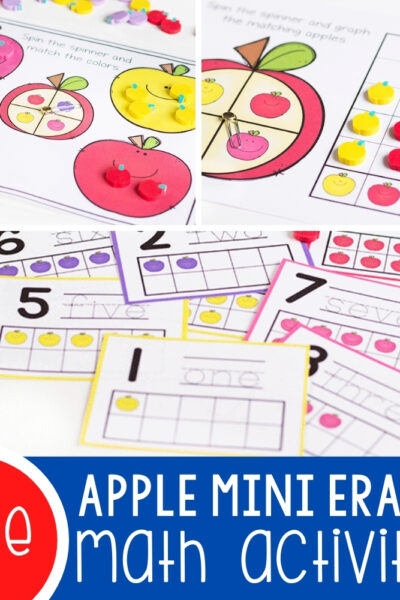 Apple Mini Eraser Math Activities Featured Square Image