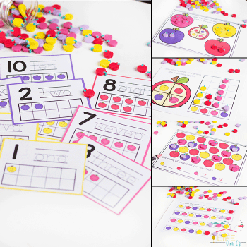 Do you love Dollar Spot mini erasers? This mini-eraser activity pack for preschoolers is full of great math activities! Counting, sorting, matching, patterns and more!