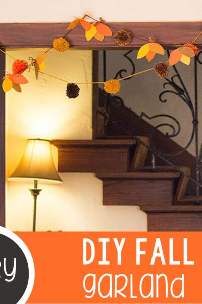 Beautiful Pom Pom and Felt Fall Garland Featured Square Image