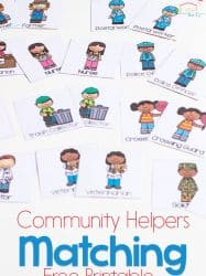 Community Helpers Matching Game for Preschoolers