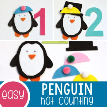 Counting Hats Penguin Counting Activity Featured Square Image