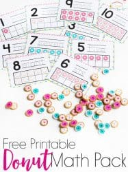 Donut Mini Eraser Activities for Preschoolers