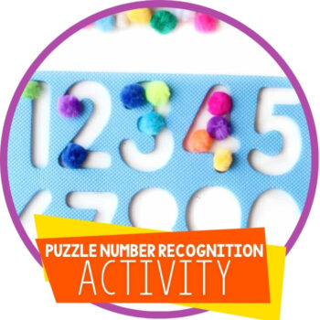 Easy Puzzle Number Recognition Activity for Kids Featured Image