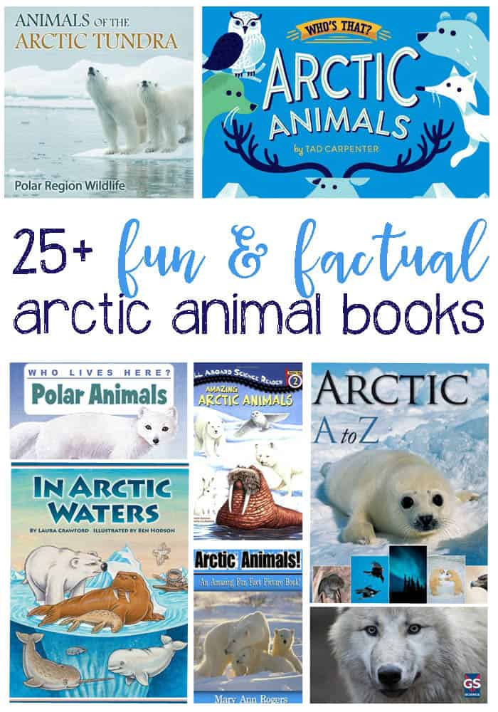 25+ Fun and Factual Arctic Animal Books For Kids: Learning all about Arctic Animals is easy with these fun, colorful and life like books for children. These are perfect for the classroom, school library or home.