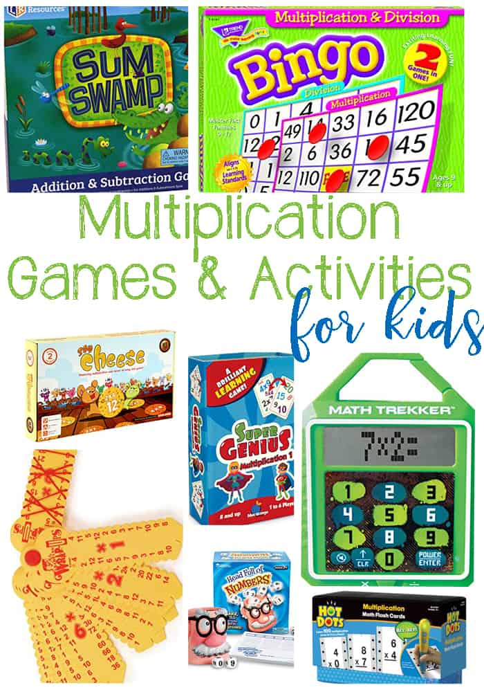 Multiplication Games and Activities For Kids: Hands On an Interactive Ways For Kids To Learn Multiplication.
