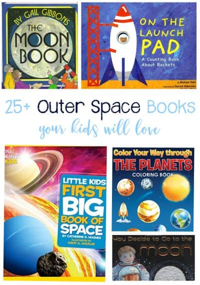 25+ Outer Space Books Your Kids Will Love To Read during your Solar System Unit Study! Perfect for a home collection or classroom library!