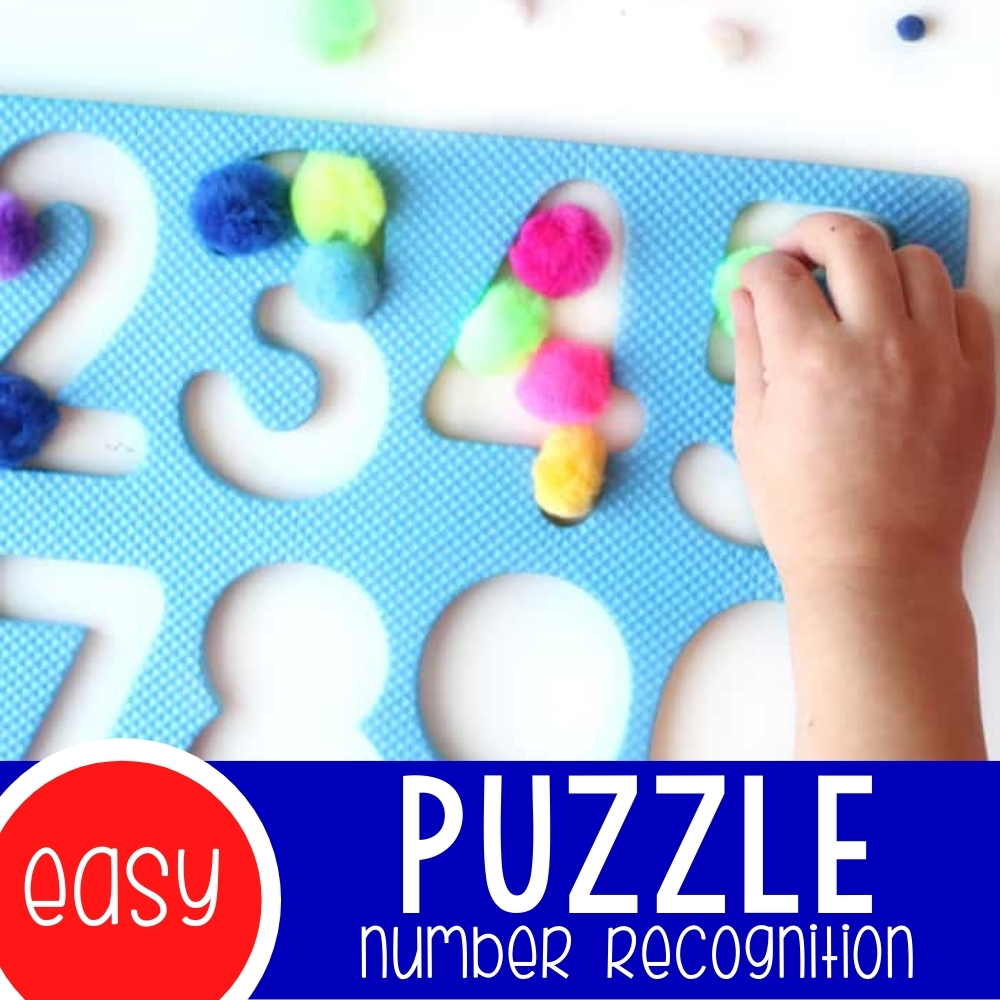 Easy Puzzle Number Recognition Activity for Kids