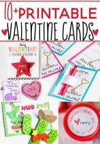 10+ Free Printable Valentine Cards your kids will love! Lots of non-candy options for Valentine's Day!
