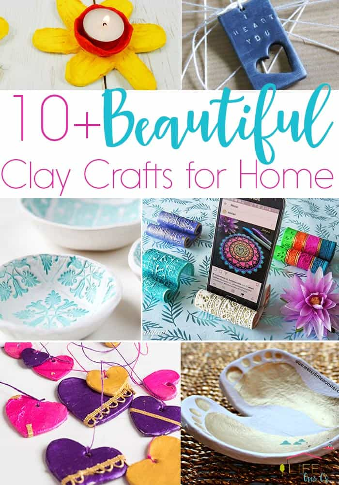 These 10+ Easy clay crafts for your home are the perfect decorations for any occasion.