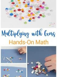 Gem Multiplication Game: Hands on Math for Kids