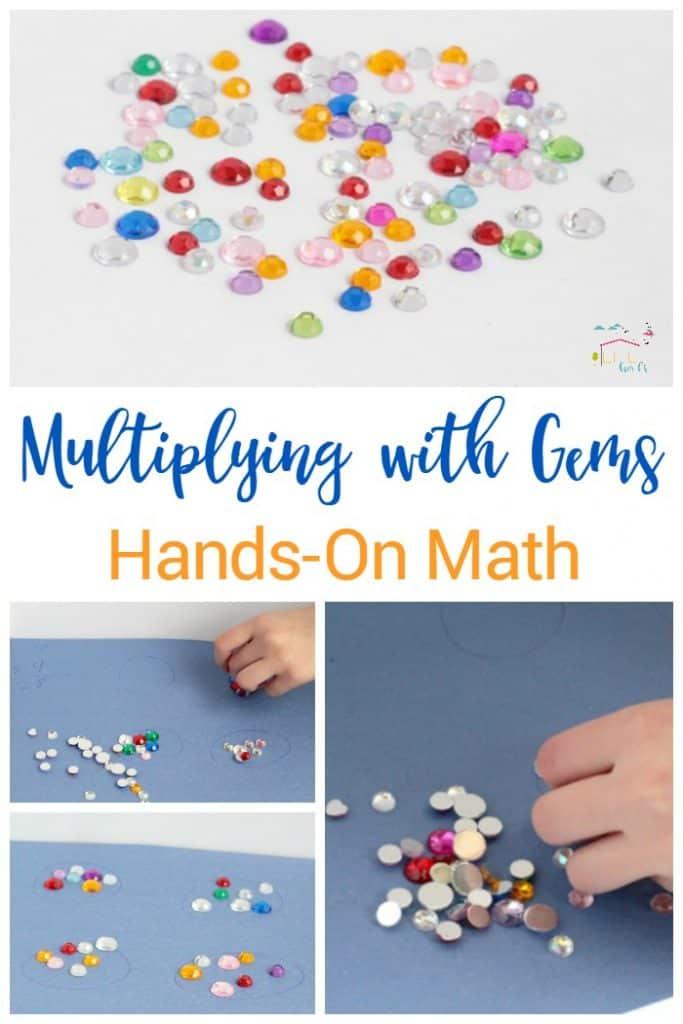 Gem Multiplication Game: Hands on Math for Kids