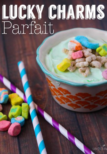 Lucky Charms Parfait. Perfect for St. Patrick's Day or for your lucky charms lover!