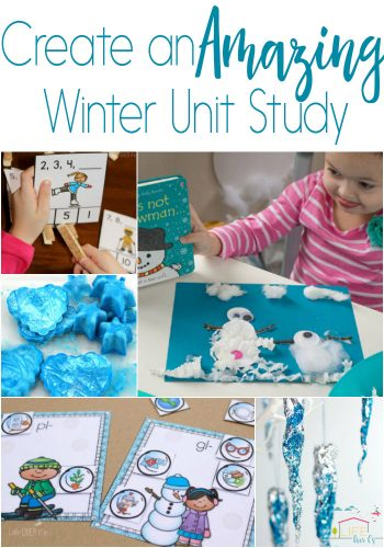 Create an amazing winter unit study with these fun, hands-on printables and activities for kids! Science, math, literacy, art and more!