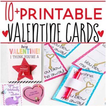 10+ Free Printable Valentines for kids
