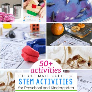 50+ Hands-on STEM activities for kindergarten.