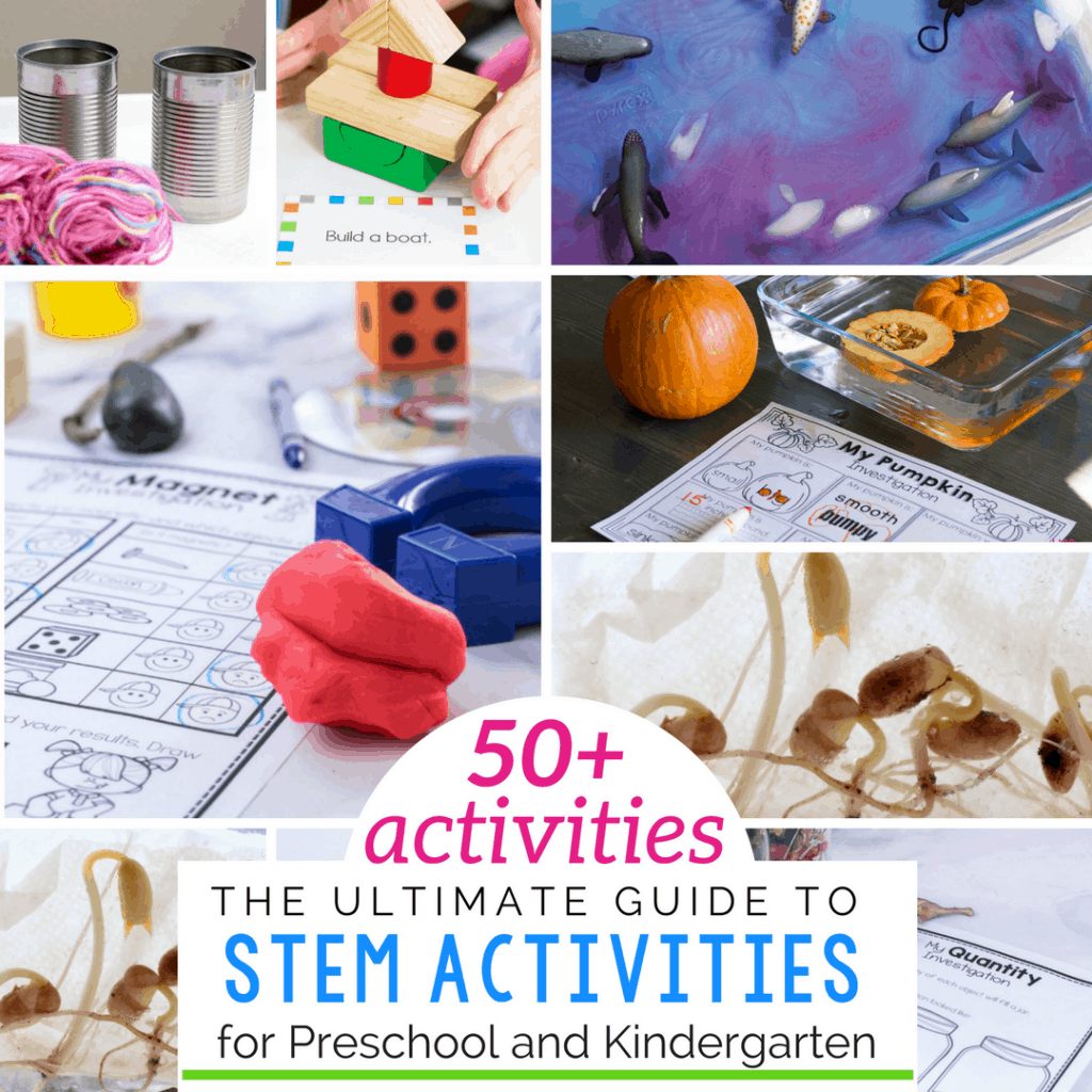 50+ Hands-on STEM activities for kindergarten.