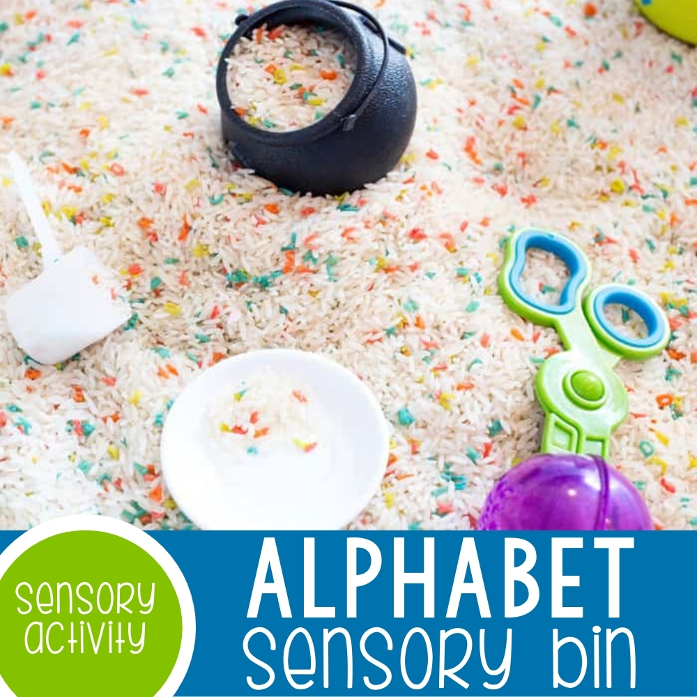 Alphabet Sensory Bin Featured Square Image