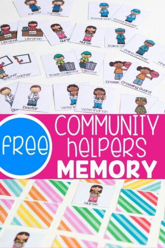 Free Community Helpers Memory Pinterest Image
