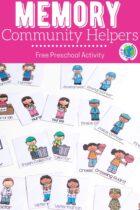 Memory Community Helpers Free Preschool Activity Pinterest Image