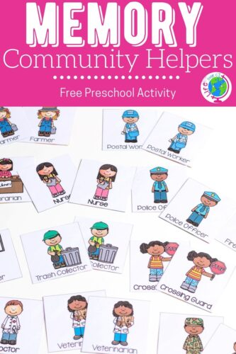 Memory Community Helpers Free Preschool Activity Pinterest Image