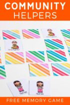 Community Helpers Free Memory Game Pinterest Image