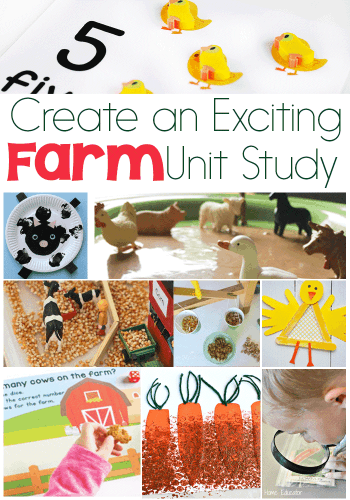 Learn about farms and farm animals with these exciting activities for a farm unit study! Science, math, STEM, literacy art and more!!