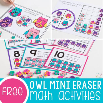 Owl Mini Eraser Math Activities Featured Square Image