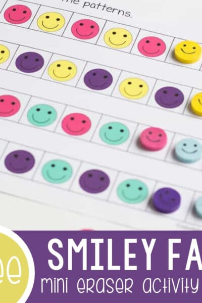 Smiley Face Mini Eraser Activity Pack featured image.