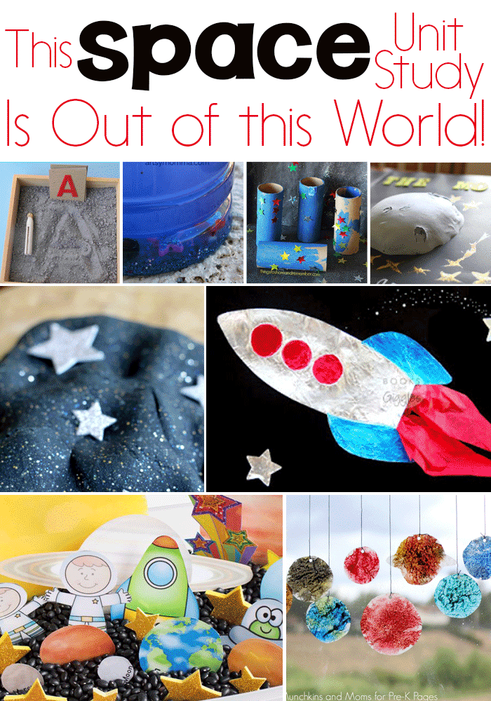 Kids will love this exciting Space Unit Study! Outer Space activities for science, math, STEM, literacy, sensory and more!!