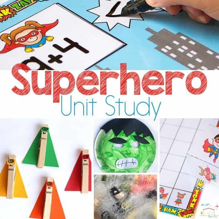 Fun Ways To Inspire Learning Creating A Study Room Every: Creating A Fun Superhero Unit Study Your Kids Will Marvel Over