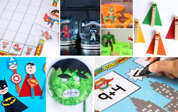 Create an amazing superhero unit study for your kids! Math, science, literacy, sensory activities for kids and more!