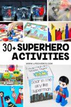 30+ Superhero Activities: Preschool and Kindergarten superhero math, literacy, science, sensory activities