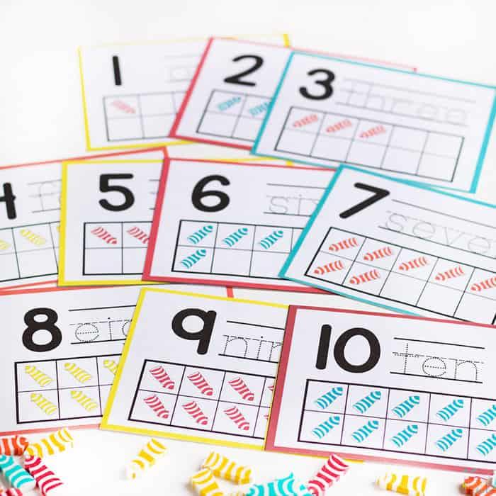 Arrow Mini Eraser Math Activities for Preschoolers