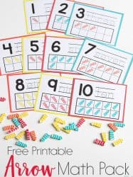 Arrow Mini Eraser Math Activities for Preschoolers
