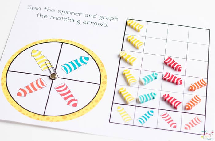 Do you love Dollar Spot mini erasers? This arrow mini eraser activity pack for preschoolers is full of great math activities! Counting, sorting, matching, patterns and more!