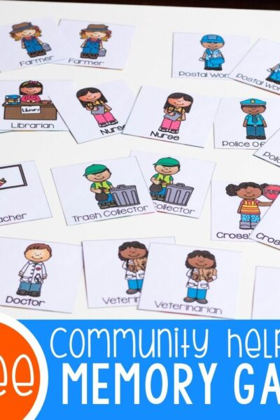 Community Helpers Matching Game for Preschoolers Featured Image