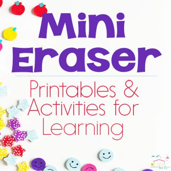 20+ Mini Eraser Activities and Printables for Hands-On Learning! Sorting, Counting, Patterns, and much more!! If you love mini erasers you need to check this out!