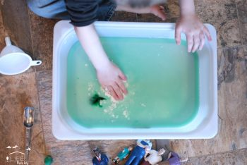 Oobleck sensory play- a great activity for Dr. Seuss' birthday/Read Across America!