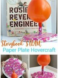 Rosie Revere Engineer Storybook STEM Challenge: Paper Plate Hovercraft