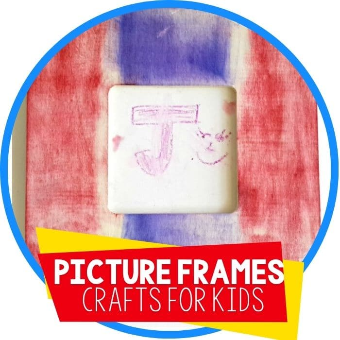 picture frames craft for kids Featured Image