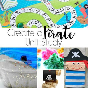 Create a fun pirate unit study for your kids! Math, science, literacy, sensory activities and more!
