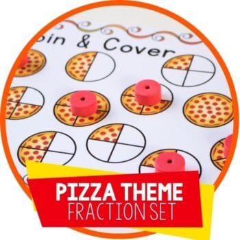 pizza theme fractions Featured Image