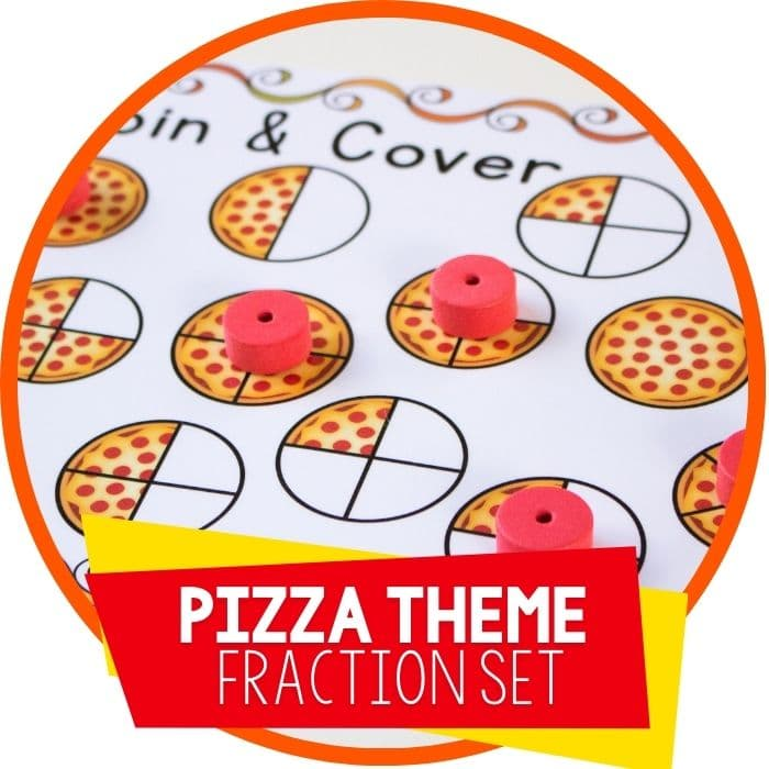 Free Pizza Fraction Printable Activities for Equivalent Fractions